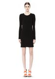 T by ALEXANDER WANG MATTE JERSEY LONG SLEEVE DRESS WITH DRAPE DETAIL Short Dress Adult 8_n_r