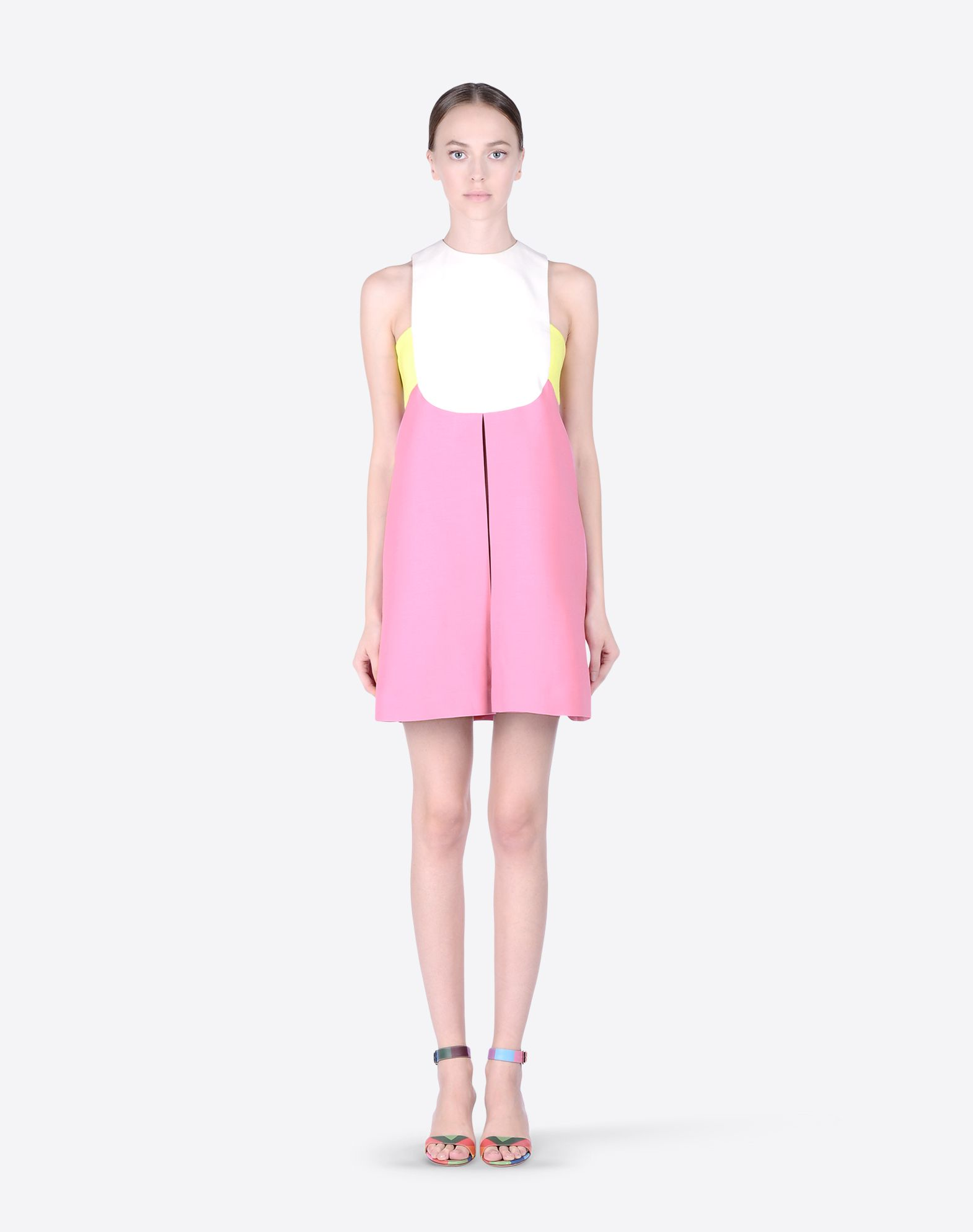 VALENTINO Crêpe Multicolor Pattern Round collar Hook-and-eye closure Lined interior Sleeveless  34473310gq