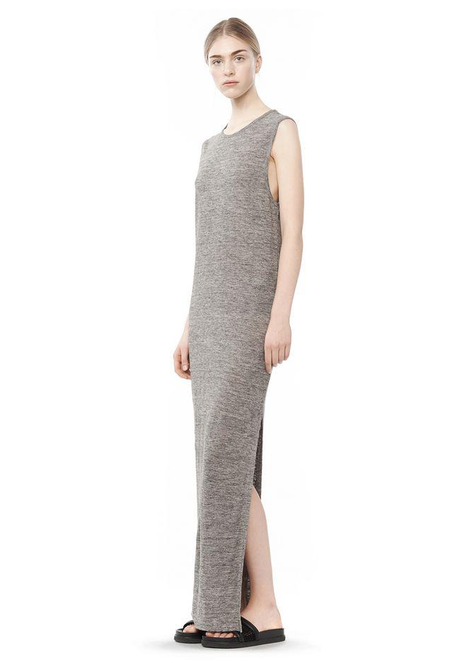 LONG LINEN JERSEY MUSCLE DRESS - KNIT DRESS - Alexander Wang ...