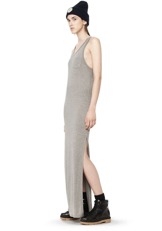 T by ALEXANDER WANG CLASSIC TANK DRESS WITH CHEST POCKET  Long dress Adult 12_n_e