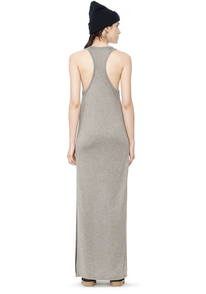 T by ALEXANDER WANG CLASSIC TANK DRESS WITH CHEST POCKET  Long dress Adult 12_n_r