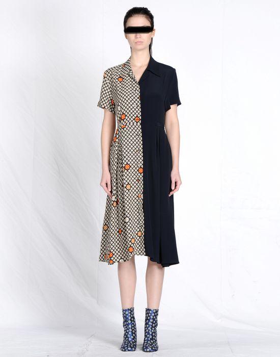 ee175d7866da6 MAISON MARGIELA Mixed print maxi shirt dress 3/4 length dress [***