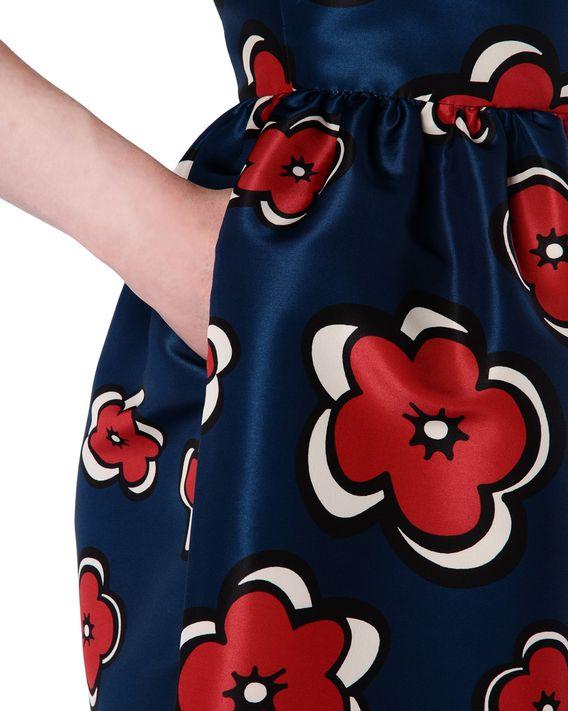 8869c136e02d ... REDValentino Abito faille stampa Pop Flower ...