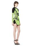 ALEXANDER WANG BI COLOR MESH LONG SLEEVE DRESS  Short Dress Adult 8_n_e