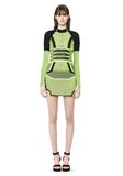 ALEXANDER WANG BI COLOR MESH LONG SLEEVE DRESS  Short Dress Adult 8_n_f