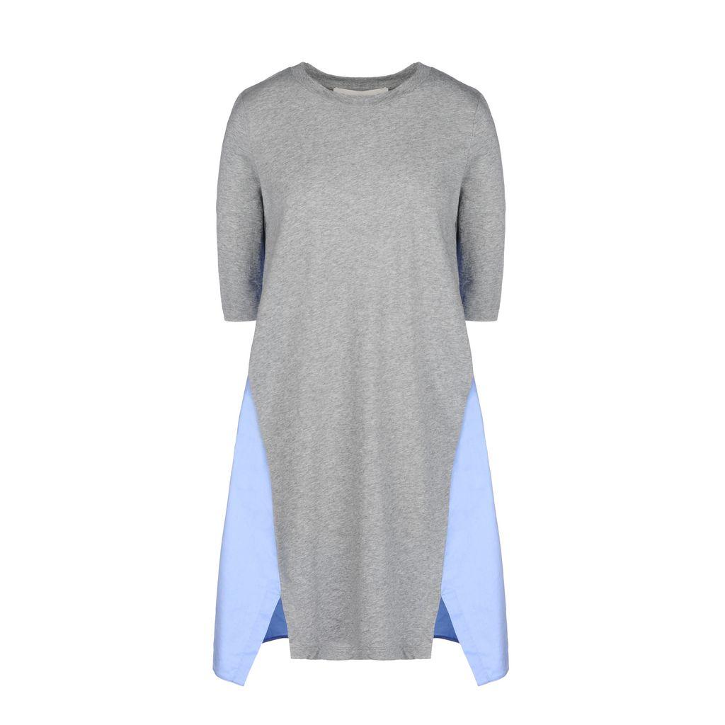 Grey Cotton Poplin Dress - STELLA MCCARTNEY