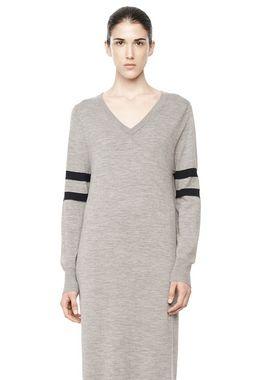 RUGBY KNIT COLUMN DRESS
