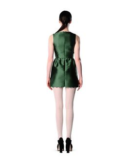 REDValentino Silk twill scalloped dress