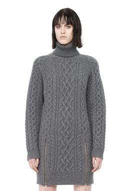 CABLE KNIT TURTLENECK DRESS