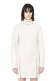 ALEXANDER WANG CABLE KNIT TURTLENECK DRESS  KNIT DRESS Adult 8_n_e