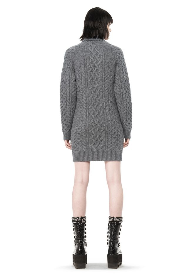 ALEXANDER WANG CABLE KNIT TURTLENECK DRESS  KNIT DRESS Adult 12_n_r