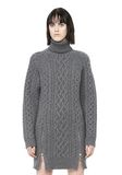 ALEXANDER WANG CABLE KNIT TURTLENECK DRESS  KNIT DRESS Adult 8_n_a