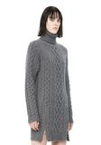 ALEXANDER WANG CABLE KNIT TURTLENECK DRESS  KNIT DRESS Adult 8_n_d