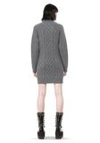 ALEXANDER WANG CABLE KNIT TURTLENECK DRESS  KNIT DRESS Adult 8_n_r
