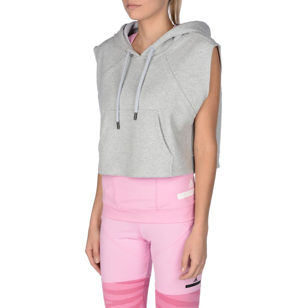 Pearl grey yoga crop hoodie - ADIDAS by STELLA McCARTNEY