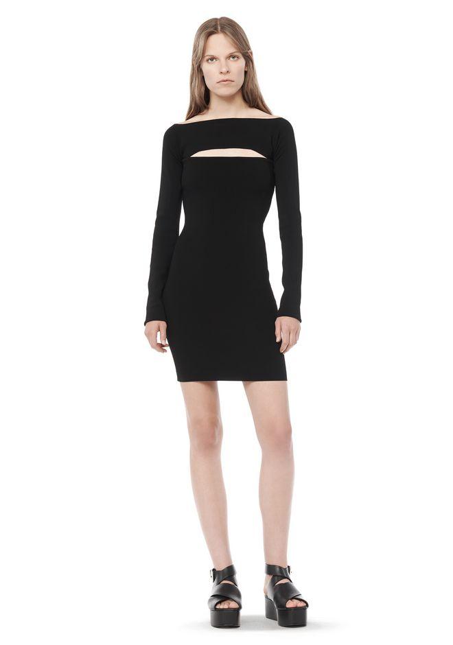 LONG SLEEVE BANDEAU DRESS  Short Dress  Alexander Wang Official Site
