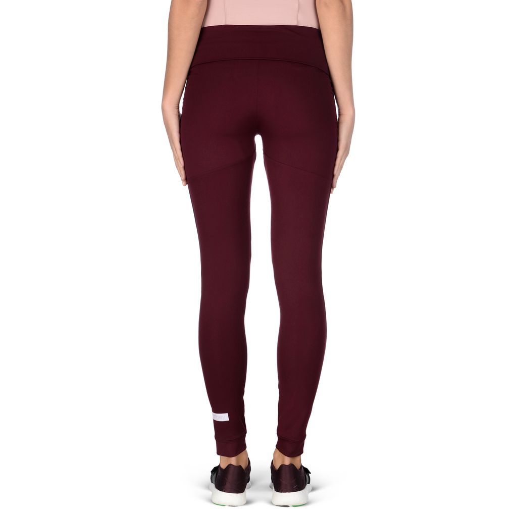 Maroon Performance Leggings - ADIDAS by STELLA McCARTNEY