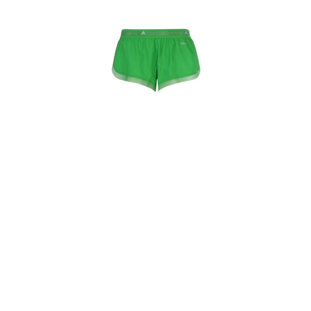 Green adizero run shorts - ADIDAS by STELLA McCARTNEY