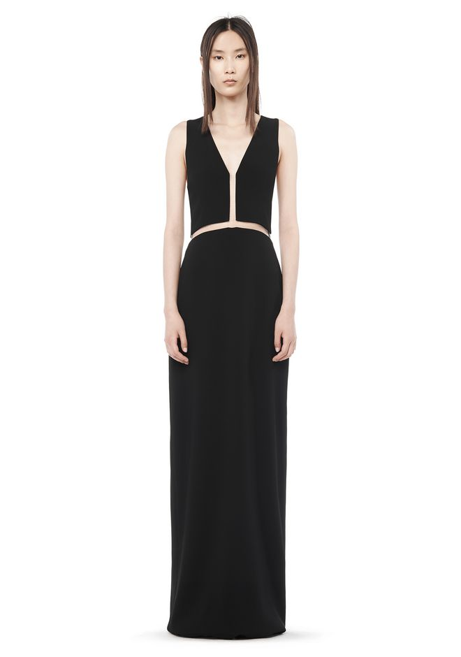 ALEXANDER WANG Long dresses Women FISHLINE V-NECK GOWN