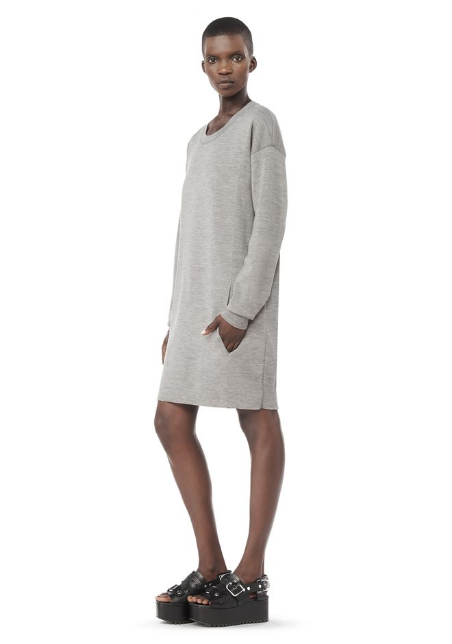 ALEXANDER WANG Short Dresses Women LONG SLEEVE DRESS WITH SEAMLESS POCKET