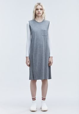 CLASSIC OVERLAP DRESS WITH POCKET