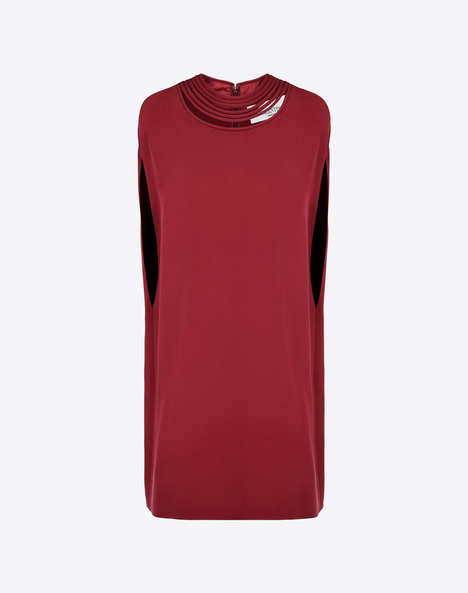 VALENTINO Crêpe Solid colour Round collar Hook-and-bar, zip Lined interior Short sleeves  34621438pq