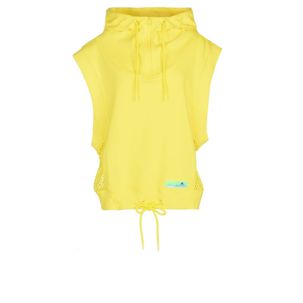 Yellow sleeveless hoodie  - ADIDAS by STELLA McCARTNEY