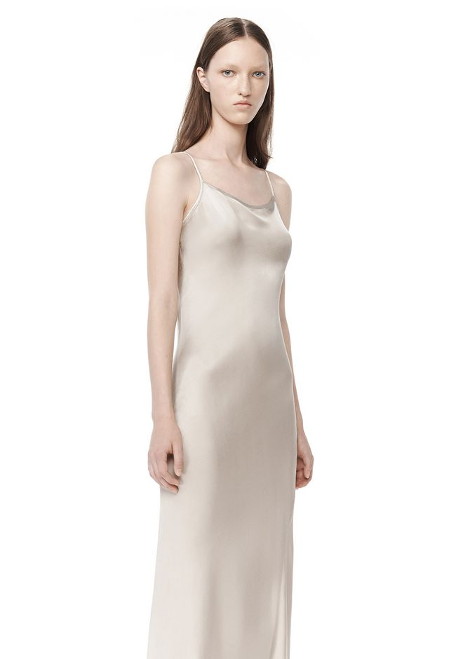 GARMENT DYED SLIP DRESS  Long Dress  Alexander Wang Official Site