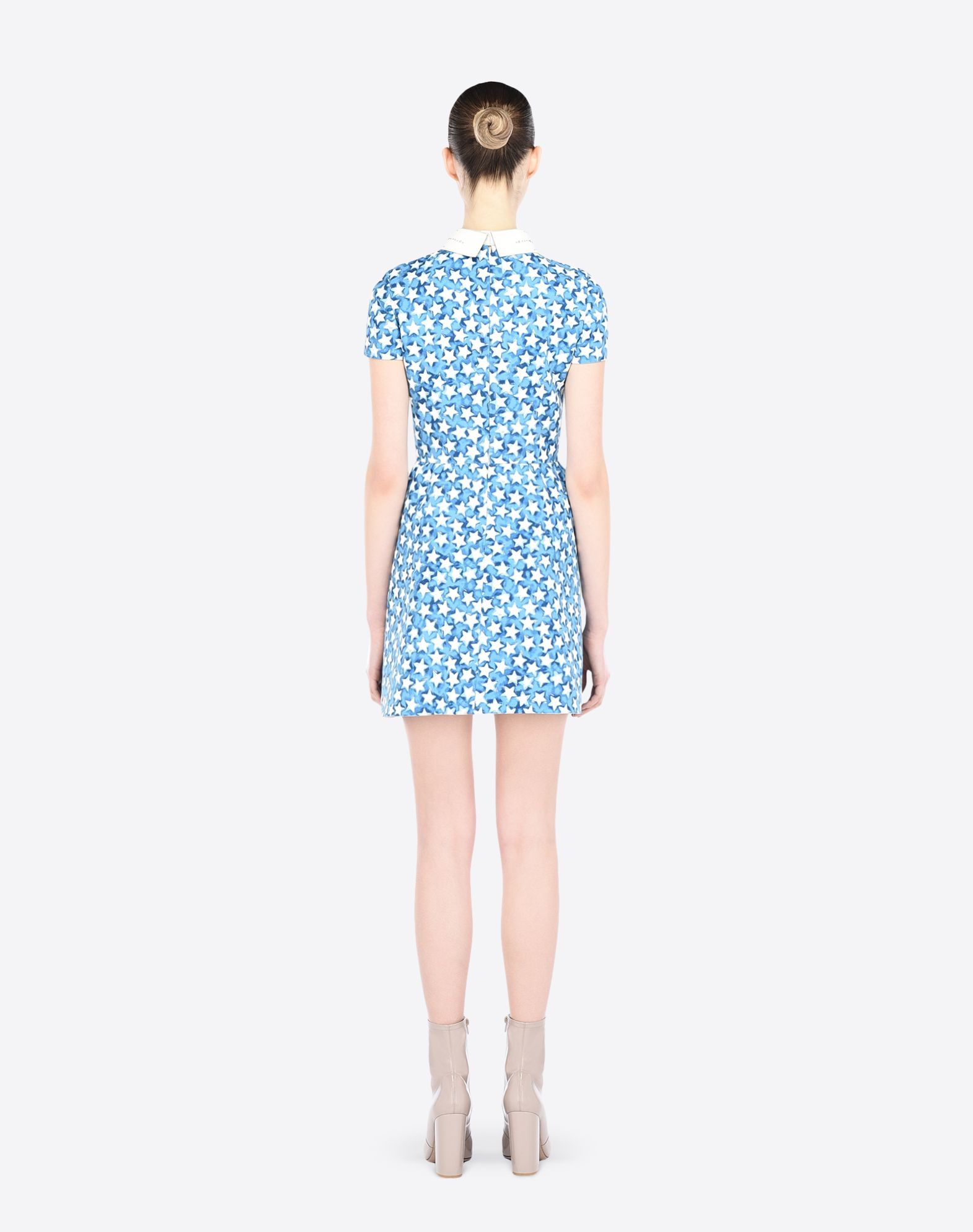 VALENTINO Contrasting applications Crêpe Multicolor Pattern Classic Neckline Snap button closure Hook-and-bar, zip Multipockets Semi-lined Short sleeves  34629064tk