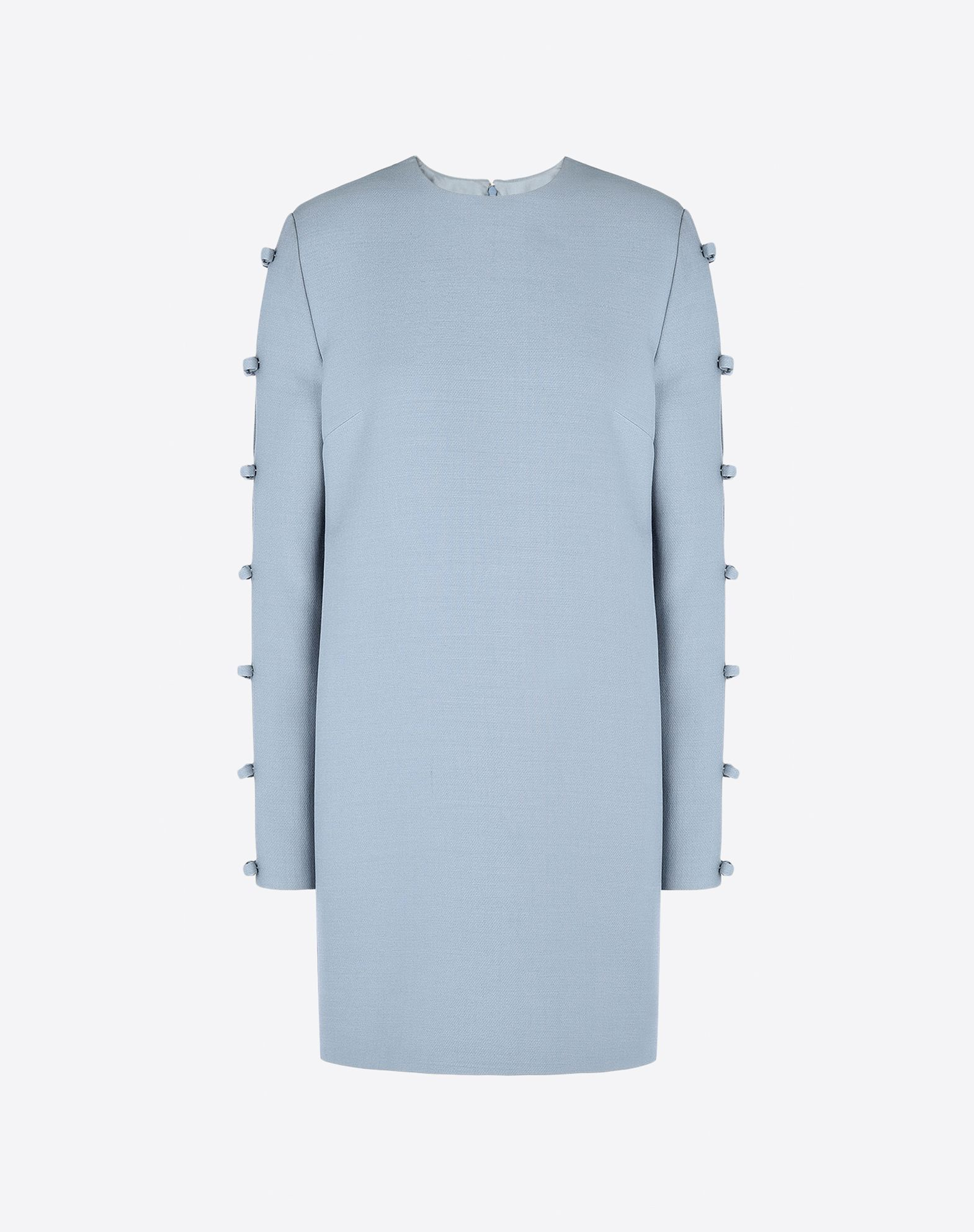 VALENTINO Darts Bow detailing Crêpe Solid colour Round collar Hook-and-bar, zip Multipockets Lined interior Long sleeves  34629883fw