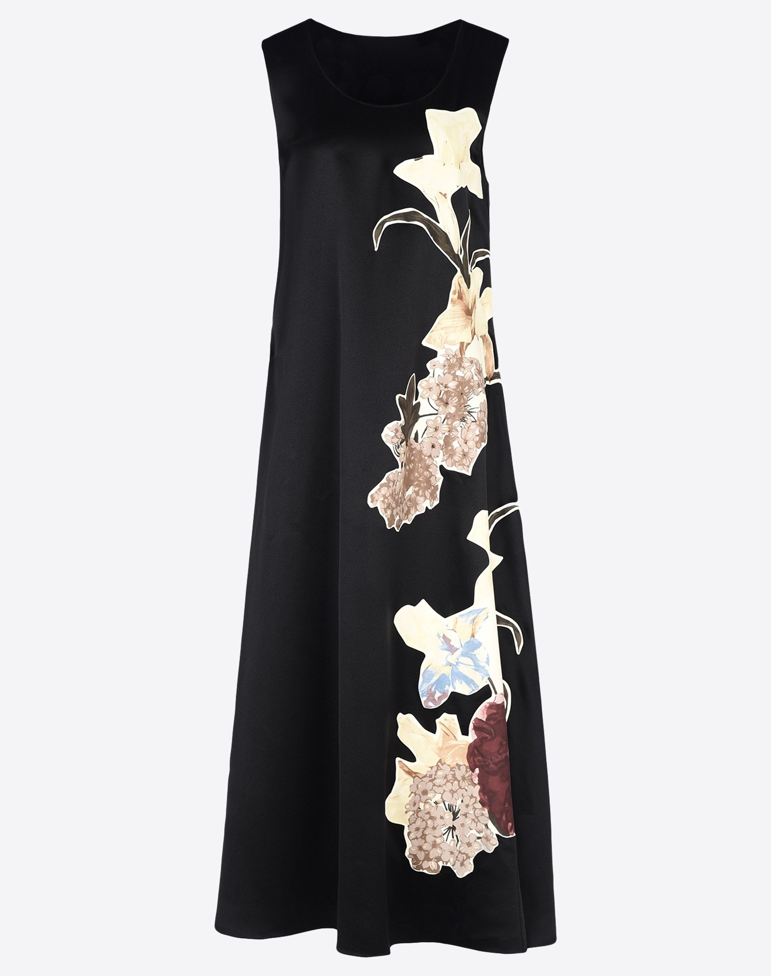 VALENTINO Contrasting applications Satin Solid colour Round collar Unlined Short sleeves  34632683fb