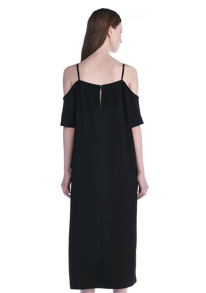 T by ALEXANDER WANG POLY CREPE OFF THE SHOULDER DRESS  3/4 length dress Adult 12_n_d