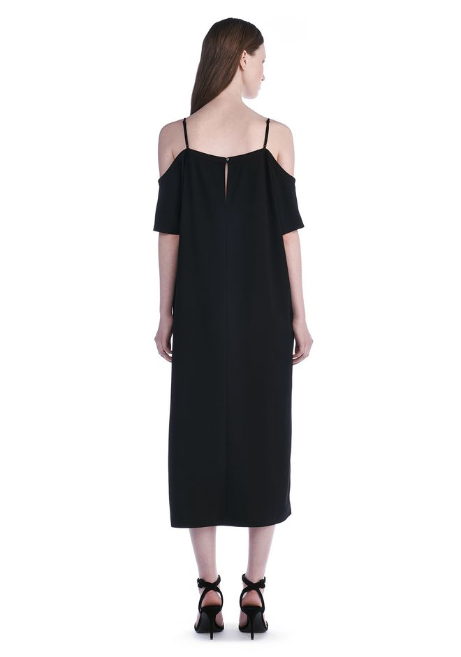 T by ALEXANDER WANG POLY CREPE OFF THE SHOULDER DRESS  3/4 length dress Adult 12_n_r