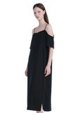 T by ALEXANDER WANG POLY CREPE OFF THE SHOULDER DRESS  3/4 length dress Adult 8_n_a