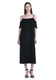T by ALEXANDER WANG POLY CREPE OFF THE SHOULDER DRESS  3/4 length dress Adult 8_n_f