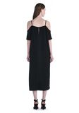 T by ALEXANDER WANG POLY CREPE OFF THE SHOULDER DRESS  3/4 length dress Adult 8_n_r