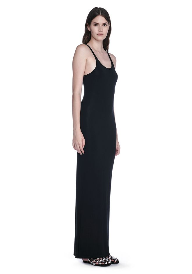 T by ALEXANDER WANG 3/4 Length dresses MODAL SPANDEX LONG TANK DRESS