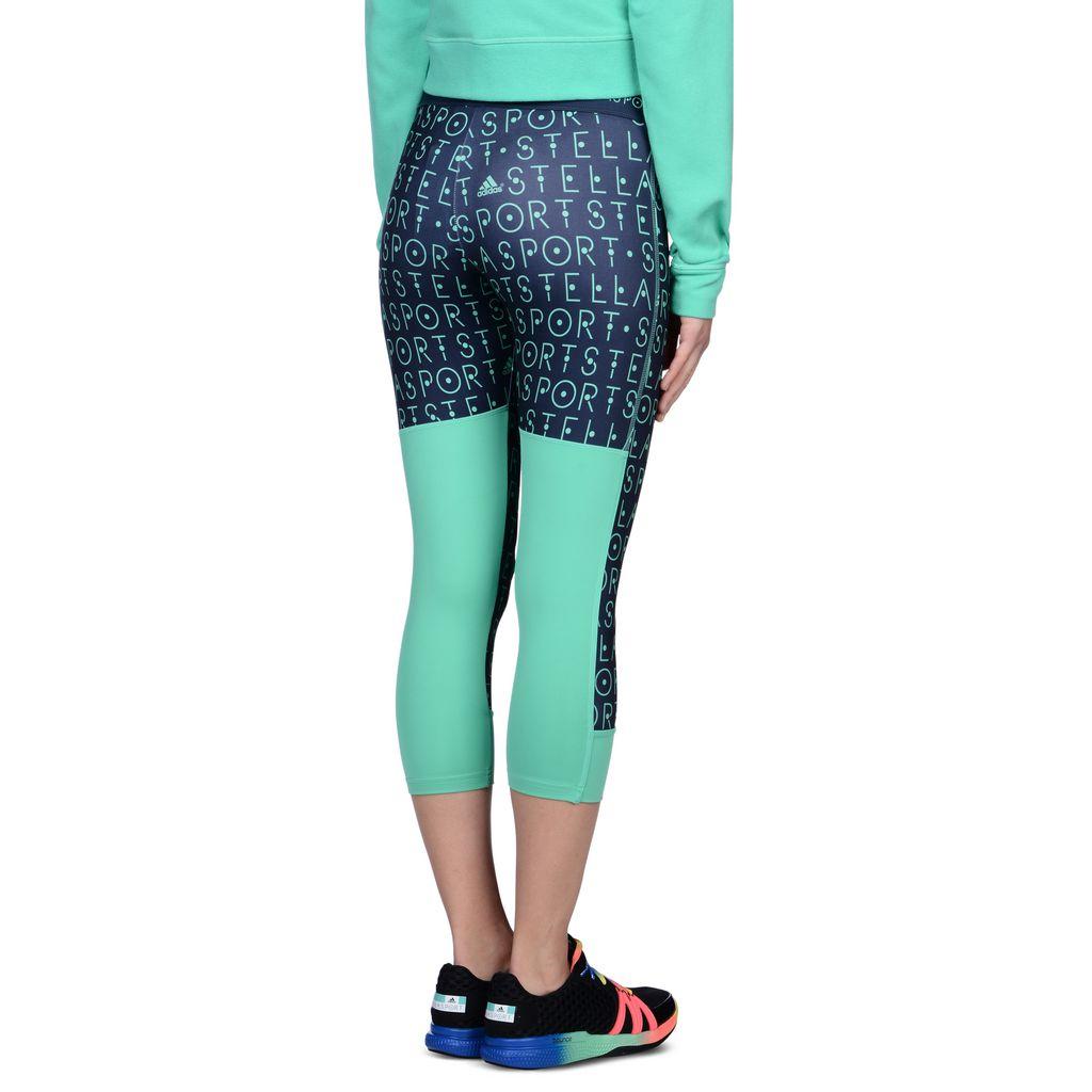 Grey 3/4 Length Leggings  - ADIDAS by STELLA McCARTNEY