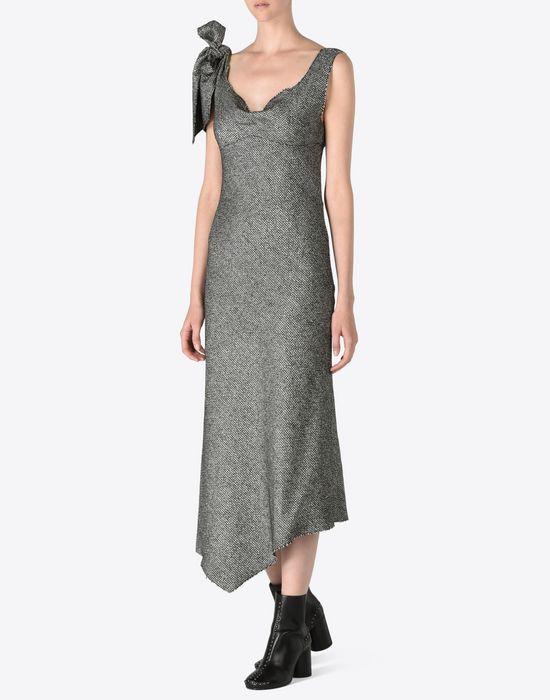 Maison Margiela Tweed Bias Cut Dress Women |