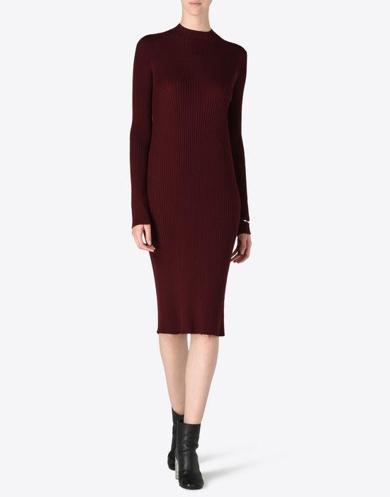 MAISON MARGIELA 4 Wool turtleneck sweater dress Long dress D d
