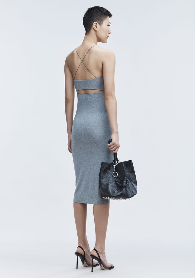 T by ALEXANDER WANG CUT OUT MODAL CAMI DRESS Short Dress Adult 12_n_f