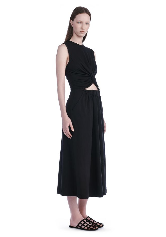 T by ALEXANDER WANG Long dresses Women FRONT TWIST SLEEVELESS DRESS