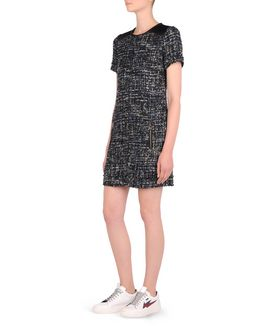 KARL LAGERFELD SPARKLE BOUCLÉ DRESS