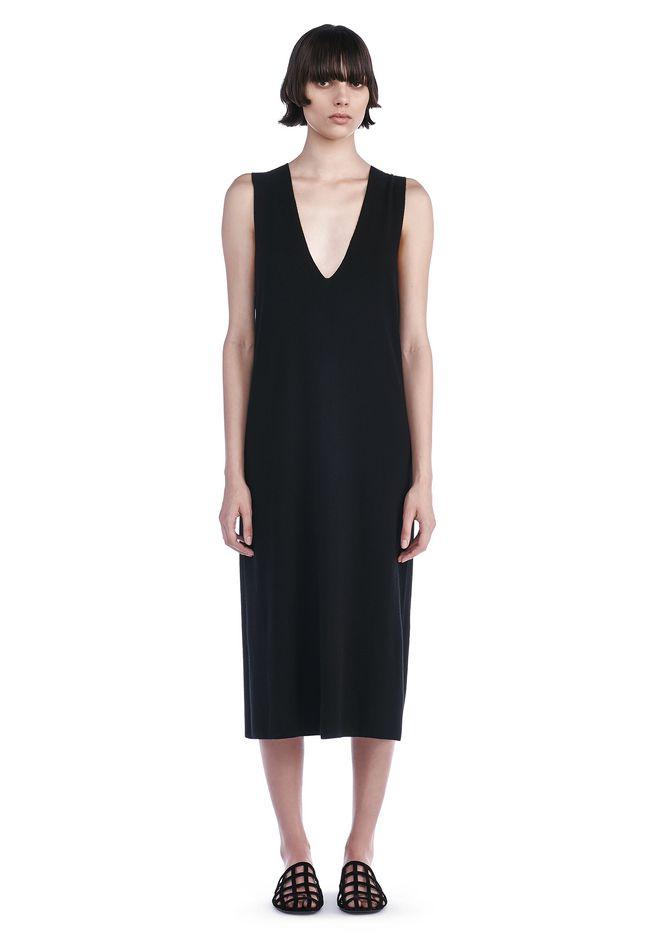 T by ALEXANDER WANG Long dresses Women DEEP V-NECK SLEEVELESS DRESS