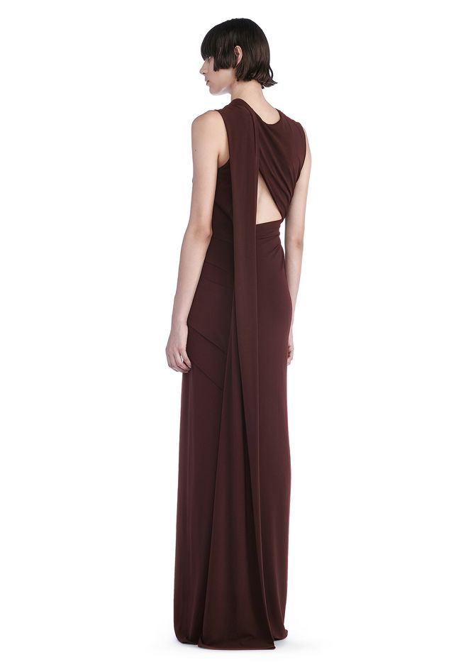 ALEXANDER WANG 3/4 Length dresses Women ASYMMETRIC DRAPED GOWN WITH BACK CUT OUT