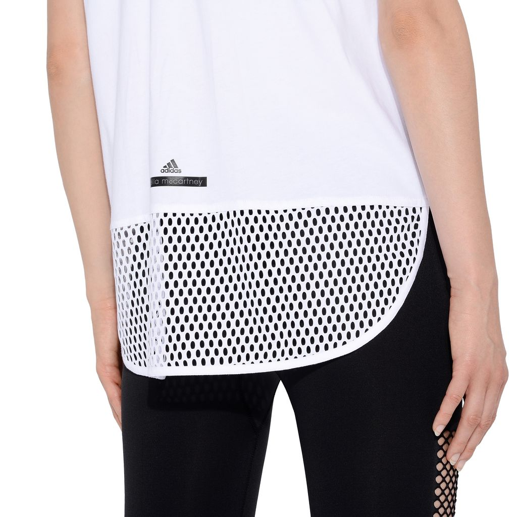 White essentials mesh t-shirt - ADIDAS by STELLA McCARTNEY