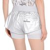 ADIDAS by STELLA McCARTNEY Metallic silver run 2in1 shorts adidas Bottoms D a