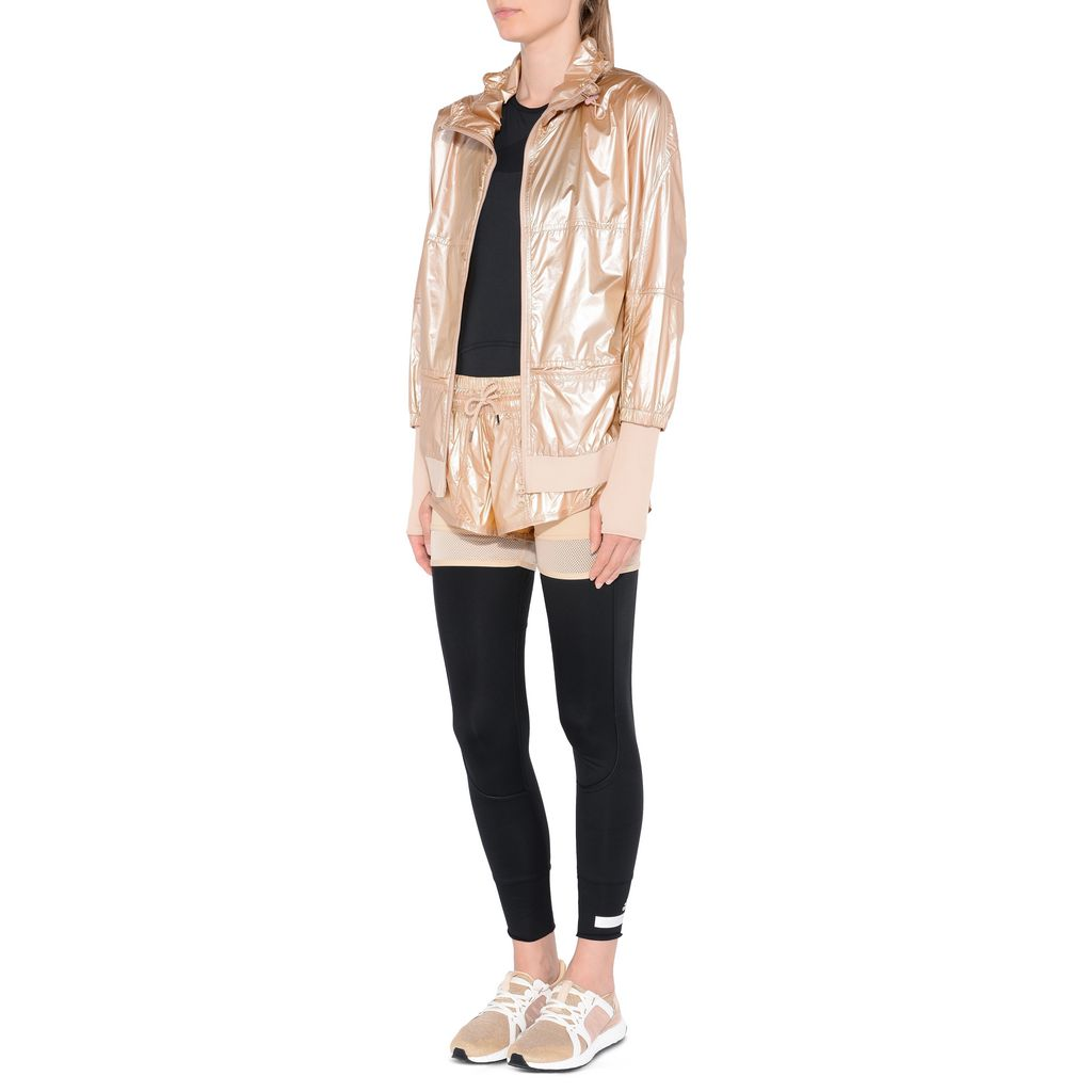Metallic gold run 2in1 shorts - ADIDAS by STELLA McCARTNEY