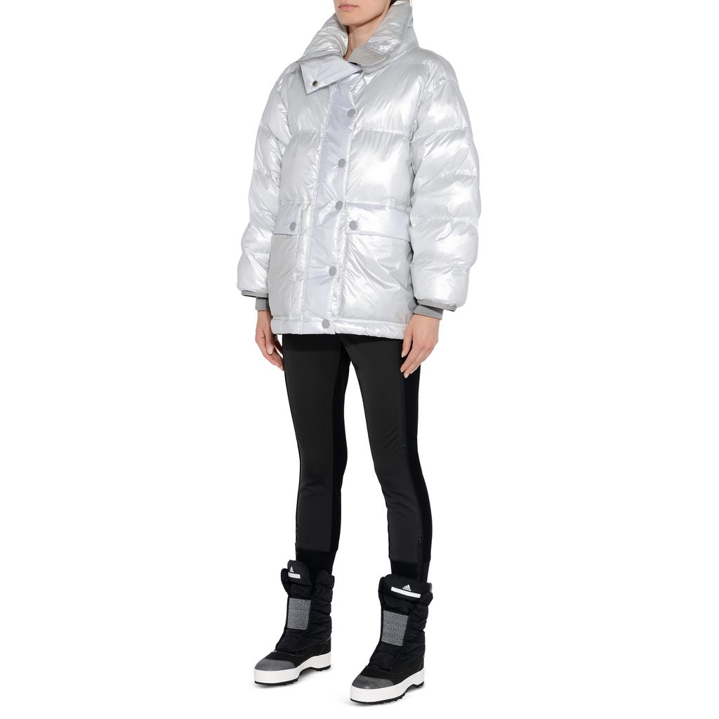 Silver wintersports puffer jacket - ADIDAS by STELLA McCARTNEY
