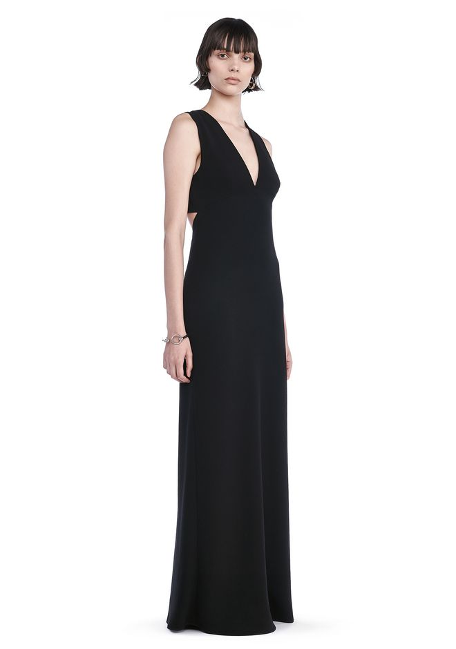 T by ALEXANDER WANG Long dresses POLY CREPE MAXI DRESS WITH EXPOSED BACK